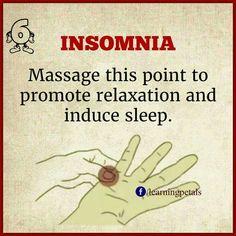 Insomnia? Massage this pressure point