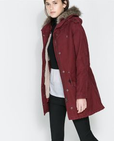 Image 2 of HOODED COTTON PARKA from Zara - 179