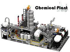 PP rear view Lego Modular, Lego Design, Lego City, Lego Space Station, Lego Factory, Chemical Plant, Lego Ship, Lego Construction, Lego Trains