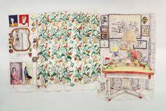 Dawn Clements  Untitled (Colour Kitchen)  2005 Gouache on paper 302.25 x 458 cm