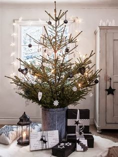 What an original Christmas Tree! Plenty of space for PNP Santa to leave Christmas gifts!