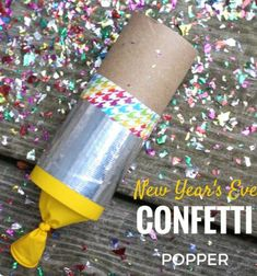 Confetti poppers - New Year's Eve party craft idea // Konfettiágyú lufiból és wc papír gurigából ( konfetti kilövő ) // Mindy - craft tutorial collection // #crafts #DIY #craftTutorial #tutorial #NewYearsCraft #NewYearsEve