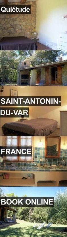 Hotel Quiétude in Saint-Antonin-du-Var, France. For more information, photos, reviews and best prices please follow the link. #France #Saint-Antonin-du-Var #travel #vacation #hotel