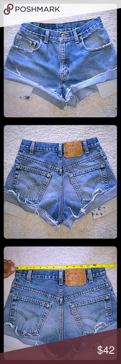 LEVI'S VINTAGE HIGH WAIST JEAN SHORTS ..SIZE 28 LEVI'S VINTAGE HIGH WAIST JEAN, THESE ARE THE BOMB!! SO HARD TO FIND..They're so flattering!! YOU NEED THESE!! ???? Levi's Shorts Jean Shorts