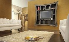Contemporary TV wall mount ideas