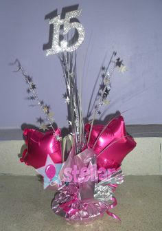 Banquet Centerpieces, Birthday Centerpieces, Balloon Centerpieces, Quince Centerpieces, Quinceanera Favors, Quinceanera Centerpieces, Sweet 16 Decorations, Holiday Decorations, Balloon Display