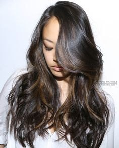 Beautiful Brunette with Beachy Highlights