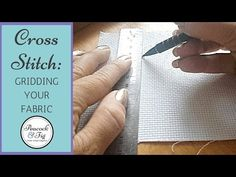 Gridding cross stitch fabric and other needlework projects doesn't have to be hard, and gridding your fabric can really help with big projects. Cross Stitch Fabric, Cross Stitching, Cross Stitch Embroidery, Hand Embroidery, Cross Stitch Tutorial, Mark Cross, Counted Cross Stitch Patterns, Sewing Projects, Sewing Ideas