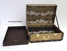 les cartonnages de Manel / mallette orient express Orient Express, Blog, Wedding Ring Box, Ring Boxes, Cartonnage, Sewing Box, Blogging