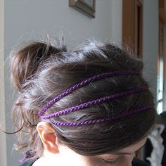 Simple Crochet Headband  Lindsay, this is actually crochet, but would be cute on you