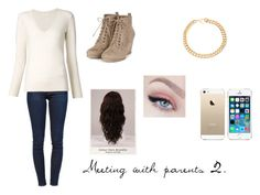 """""""Meeting with parents 2."""" by christieveg on Polyvore featuring Frame Denim, Chloé, Alessandra Rich, WigYouUp and FingerPrint Jewellry"""