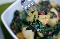 Healthy Girl's Kitchen: Quinny's Sri Lankan Kale with Black Beans and Sweet Potatoes
