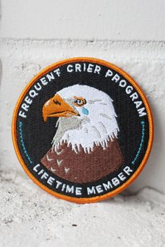 Frequent Crier iron-on patch | Stay Home Club