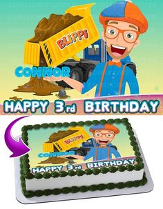 Rest assured that our blippi cake topper will give you the impression of your imaginary vision. Our edible cake toppers are printed on frosting sheets and are quite easy to make use of. Sons Birthday, Third Birthday, 4th Birthday Parties, Birthday Party Decorations, Birthday Ideas, Edible Picture Cake, Edible Cake Toppers, Cake Images, Birthday Images