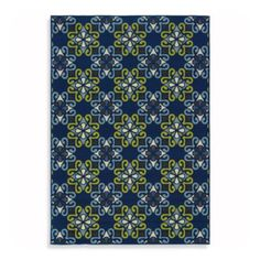 Buy Sphinx Caspian 7-Foot 10-Inch Round Indoor and Outdoor Rug in Navy from Bed Bath & Beyond