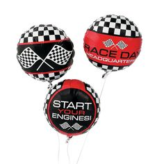 Racing Print 17 Get your party geared up for intense racing action with these large Racing Print Mylar Balloons! Nascar, Indy 500 or office desk chair races, these checkered … Related posts:NASCAR Anniv. Dirt Bike Birthday, Race Car Birthday, Cars Birthday Parties, Birthday Balloons, Birthday Party Decorations, Birthday Ideas, Party Themes, Motorcycle Birthday, Motorcycle Party