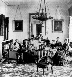 John Clarkson Jay' s family in the Jay Drawing Room in Rye, 19th Century ca. 1868 - 1875 | Flickr - Photo Sharing!