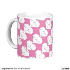 Diagonal Love Classic White Coffee Mug