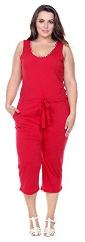 Fashion Plus Size Womens Line Print Culotte Jumpsuit With Waist ...