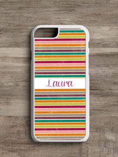 Personalized Candy Striped- Cell Phone Case