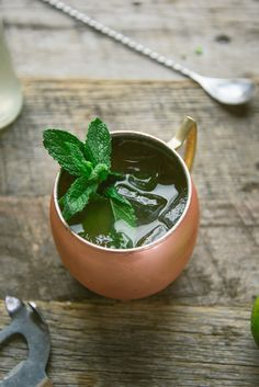 Making this cocktail tonight for St. Patty's Day~ Irish Mule using Jameson in place of the typical vodka used in a Moscow Mule, lime, ginger beer, and mint.