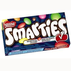 """Smarties - Canadian  """"When you eat your Smarties, do you eat the red ones last?"""""""