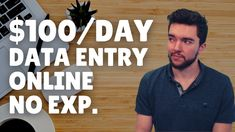$100/Day Legit Work-From-Home Data Entry Jobs No Experience 2021 Work From Home Careers, Legit Work From Home, Video Notes, Data Entry, 100th Day, Data Feed