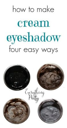 I tested four popular cream eyeshadow recipes.  Here are my results!