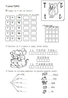 La Teca Didattica La consonante T. http://www.latecadidattica.it/prima2010/t-topo.pdf