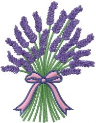 Lavender Bundle Embroidery Design
