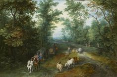 View Wooded landscape with travellers on a country road by Jan Baptiste Brueghel on artnet. Browse upcoming and past auction lots by Jan Baptiste Brueghel. Wooded Landscaping, Masters, Past, Auction, Country Roads, Museum, Landscape, Artist, Painting