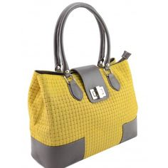 Italian Made, Genuine Leather Handbag - Sandra Yellow Sky Yellow Sky, How To Make Handbags, Leather Handbags, Italy, Fashion, Moda, Leather Totes, Italia, Fashion Styles