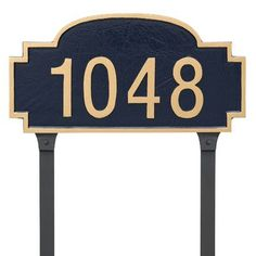 Montague Metal Products Chesterfield One Line Standard Address Plaque with Lawn Stakes Finish: Swedish Iron/Silver