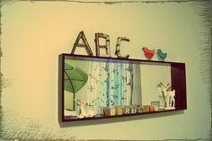 mirror shelf in baby Hartley's room