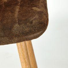Chaise de bar en microsuède marron vieilli | Maisons du Monde