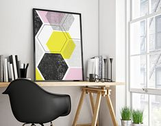 The links below the photos will take you to my shop on Etsy where you can buy the digital prints Geometric Poster, Poster Designs, New Work, Digital Prints, I Shop, Behance, Profile, Graphic Design, Gallery