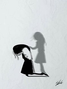 Sad Art Alone Trendy Ideas Sad Drawings, Pencil Art Drawings, Art Drawings Sketches, Drawings Of Sadness, Art Triste, Anime Triste, Sad Anime Girl, Anime Art Girl, Art Anime Fille