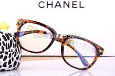 Online Shop Fashion Brand Designer Women Vintage Metal Leopard Reading Glasses Big Frame Plain Spectacles Unisex Clear Lens Nerd Eyeglasses Aliexpress Mobile