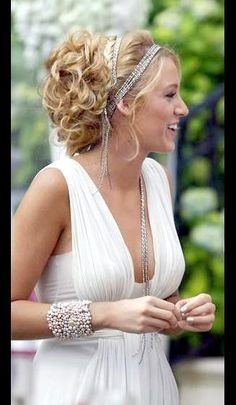 prom hair idea! add a headband for a glam look