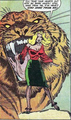 Betty-Jane Watson, the Jail-Breaking Tigress from Prison Break # 41952 art by Mort Lawrence, who drew Betty-Jane in seamed hose even when she was in prison.