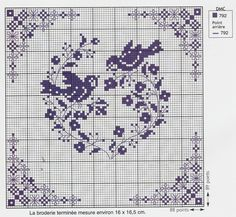 This would be an excellent pattern to project onto the wall for the giant cross stitch mural. Cross Stitch Heart, Cross Stitch Samplers, Cross Stitch Animals, Cross Stitch Flowers, Cross Stitching, Cross Stitch Embroidery, Embroidery Patterns, Cross Stitch Designs, Cross Stitch Patterns
