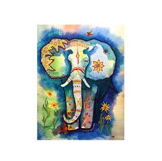 The Prince / Elephant Art Print / Watercolor Painting by Karen
