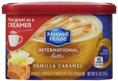 Maxwell House International Coffee Vanilla Caramel Latte, Cans (Pack of Stop your world and indulge your senses with the sweet, creamy taste of delicious flavors Coffee Mix, Mocha Coffee, Coffee Creamer, Coffee Drinks, Coffee Shop, Coffee Break, Yummy Drinks, Healthy Drinks, Maxwell House Coffee