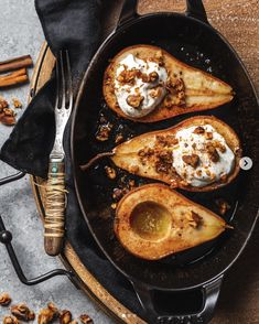 This Maple Cinnamon and Ginger Roasted Pears with Vanilla Yogurt recipe is featured in the Gluten Free Desserts feed along with many more. Pear Recipes, Yogurt Recipes, Fruit Recipes, Fall Recipes, Sweet Recipes, Vegetarian Recipes, Cooking Recipes, Raw Dessert Recipes, Roasted Pear