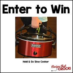 Enter to Win a Hold and Go Slow Cooker  Wish I had one already!