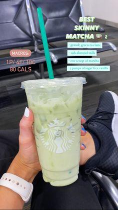 Low Calorie Starbucks Drinks, Bebidas Do Starbucks, Healthy Starbucks Drinks, Yummy Drinks, Starbucks Secret Menu Drinks, Starbucks Coffee, Matcha Drink, How To Order Starbucks, Smoothie Drinks