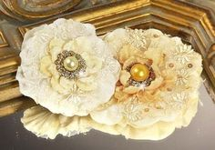 Grand Dame Candle Glow Fabric Flower
