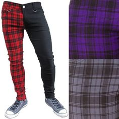 Punk Rock Outfits, Swag Outfits, Retro Outfits, Fashion Outfits, Edgy Outfits, Mens Clothing Styles, Men's Clothing, Punk Rock Clothing, Purple Skinny Jeans