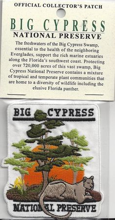 Souvenir Everglades Patch Brand New Big Cypress National Preserve Patch | eBay