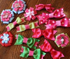 images of hair bows for little girls | last week i made a bunch of hair bows some